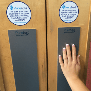 Purehold Anti-Bacterial Door Push Plate